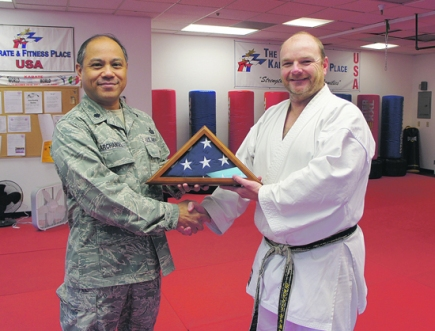 A Very Special Flag Comes from Afghanistan to Moraga