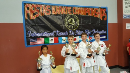 Karate Students Win Trophies at International Karate Championships