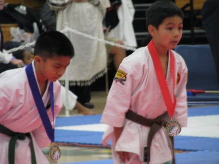 8-Year Old Awarded Silver Medal for Kata in Shotokan Competition in Yuba City,CA