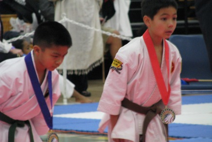 8-Year Old Awarded Silver Medal for Kata in Shotokan Competition in Yuba City, CA
